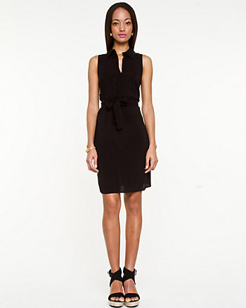 Challis Sleeveless Shirtdress