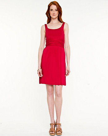 Jersey Knit Scoop Neck Dress