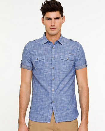 Chambray Skinny Fit Shirt