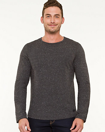 Cotton Fleece Crew Neck Sweatshirt