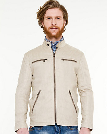 Linen Motorcycle Jacket