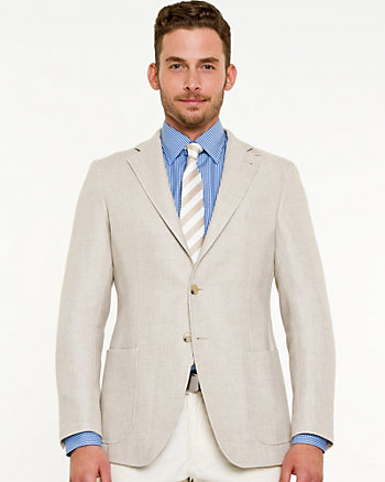 Linen Blend Tailored Fit Blazer