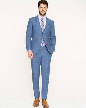 Linen Blend Contemporary Fit Suit