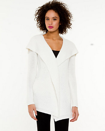 Angora Blend Foldover Collar Sweater