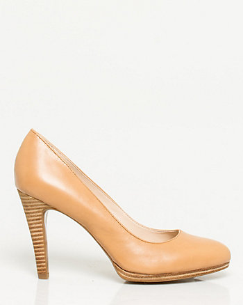 Leather Almond Toe Pump