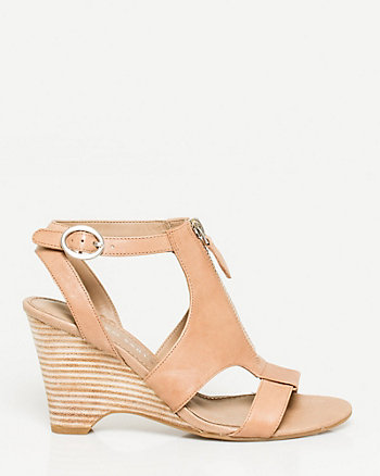 Leather Thick Strap Wedge
