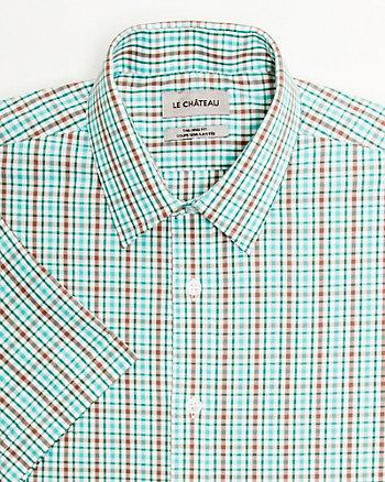 Chemise de coton à carreaux