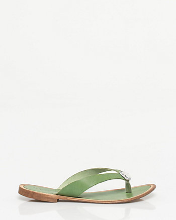 Italian-Made Leather Flip Flop