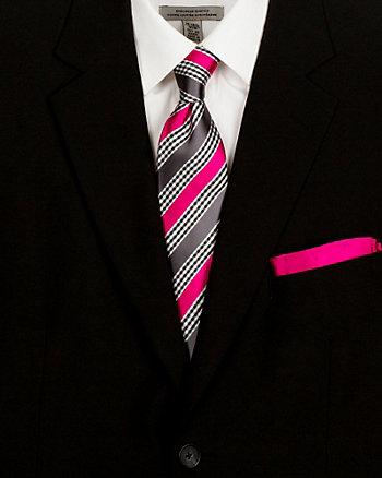 Stripe Tie & Pocket Square Set