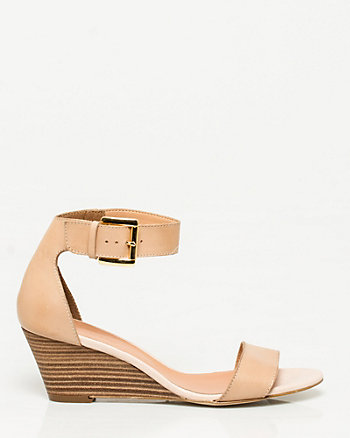 Leather Ankle Cuff Wedge