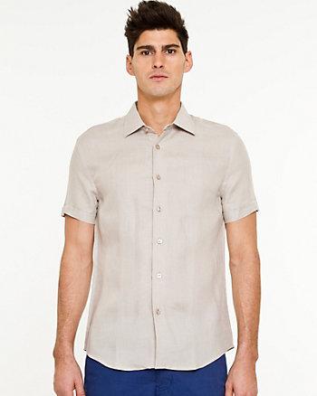 Chemise à manches courtes en lin