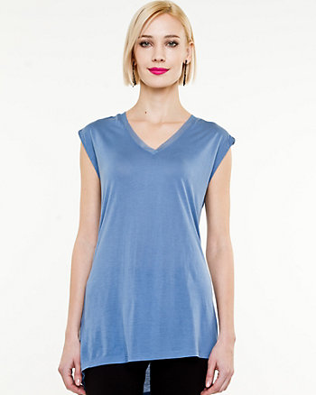 Knit V-Neck Sleeveless Top