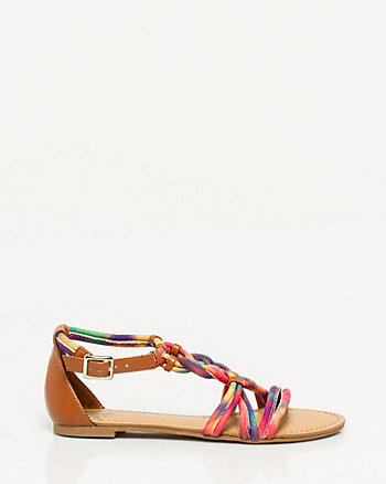 Leather-Like Woven Sandal