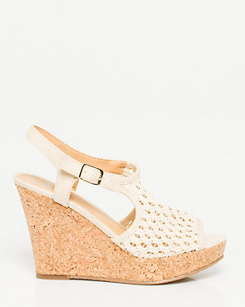 Woven Fabric Cork Wedge