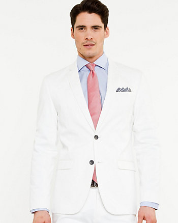 Cotton Sateen Tailored Fit Blazer