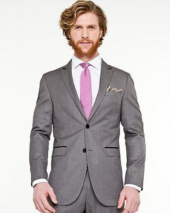 Shiny Piqué Notch Collar Blazer