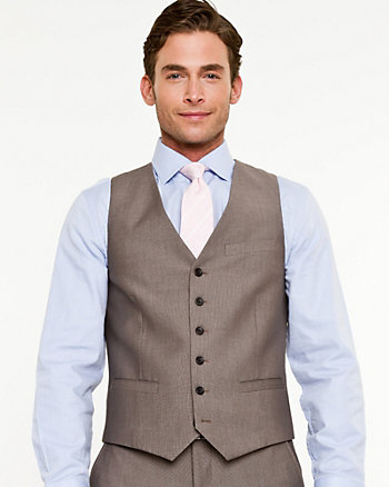 Tonal Pattern Contemporary Fit Vest