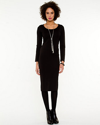 Jersey Knit Fitted Dress