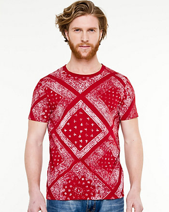 Bandana Print Slim Fit T-shirt