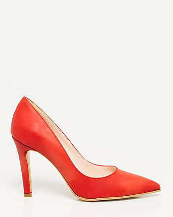 Italian Made Leather Pointy Toe Pump
