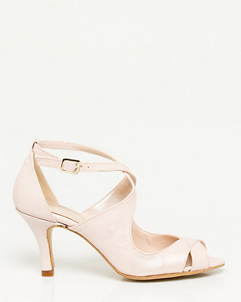 Italian Made Leather Strappy Heel