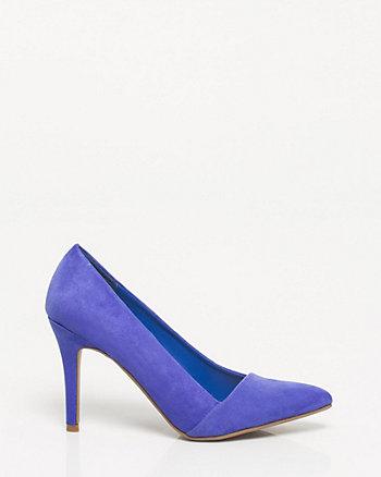 Microfibre Pointy Toe Heel