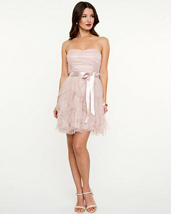Shimmer Fit & Flare Party Dress