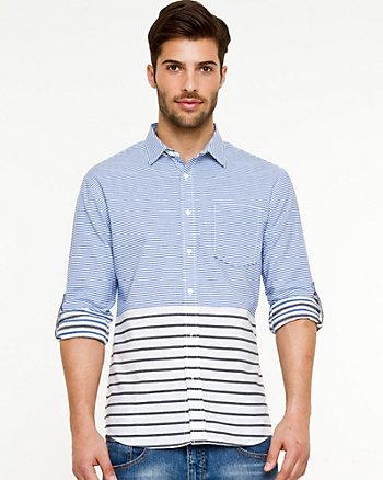 Stripe Roll-Up Sleeve Shirt