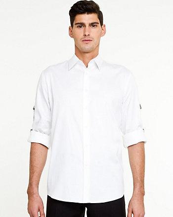 Stretch Sateen Tailored Shirt