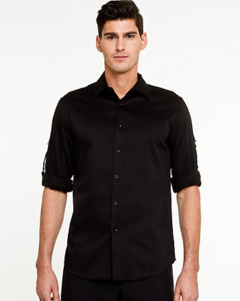 Stretch Sateen Tailored Shirt
