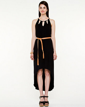 Jersey Halter High-Low Dress