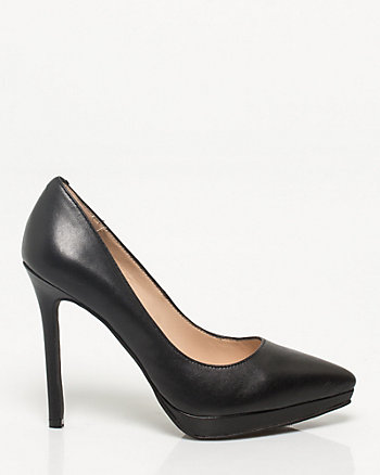 Leather Pointy Toe Heel