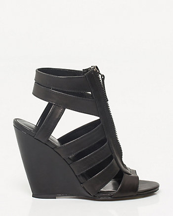 Leather Caged Wedge