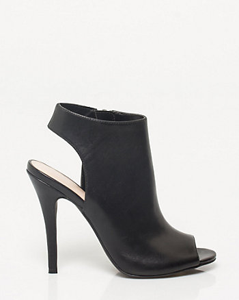 Leather Open Toe Shootie