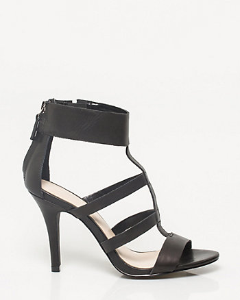 Leather T-Strap Sandal