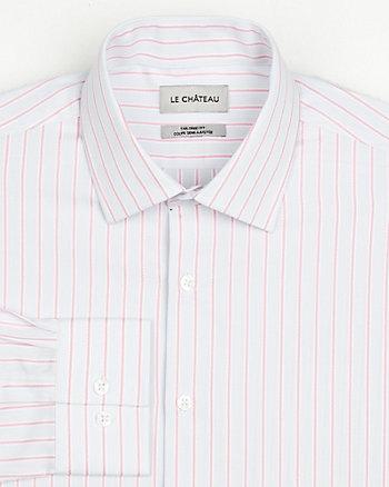Chemise de coupe semi-ajustée en coton rayé