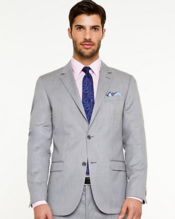 Wool Blend Executive Fit Blazer