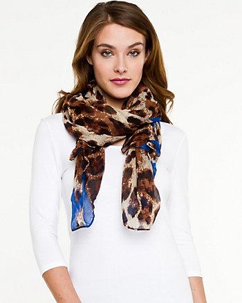 Heart & Leopard Print Scarf