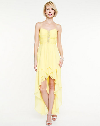 Chiffon High-Low Gown