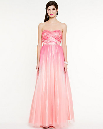 Ombré Iridescent Sweetheart Gown