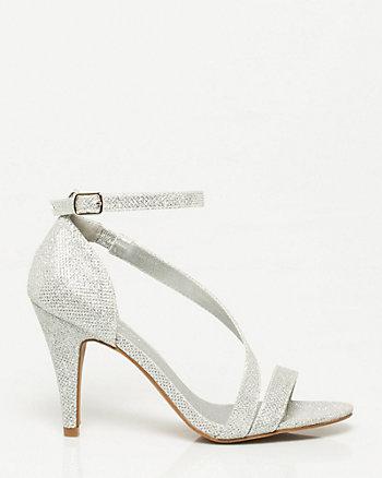 Glitter Asymmetrical Sandal