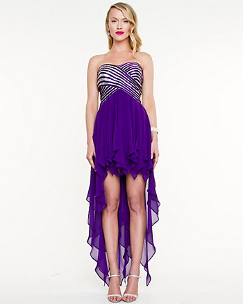 Chiffon High-Low Cocktail Dress