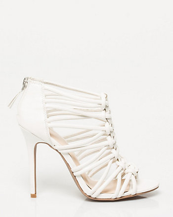 Leather-Like Caged Sandal