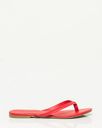 Leather-Like Thong Sandal