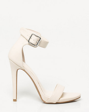 Faux Leather Ankle Cuff Sandal