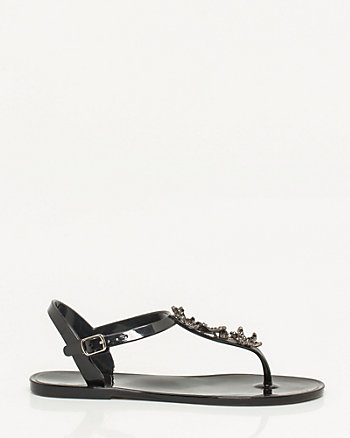 Embellished Jelly Sandal