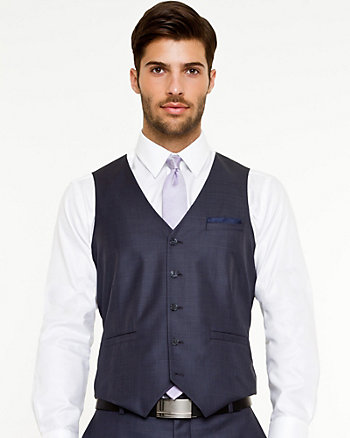 Check Print Wool Executive Fit Vest