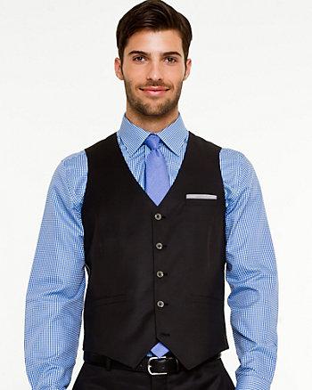 Wool Blend Classic Fit Vest