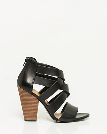 Leather Block Heel Sandal