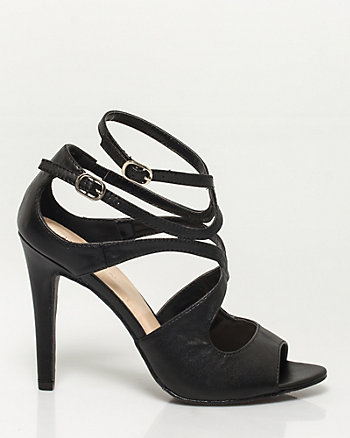 Leather-Like Strappy Sandal